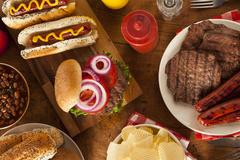 hamburger hot dog cookout